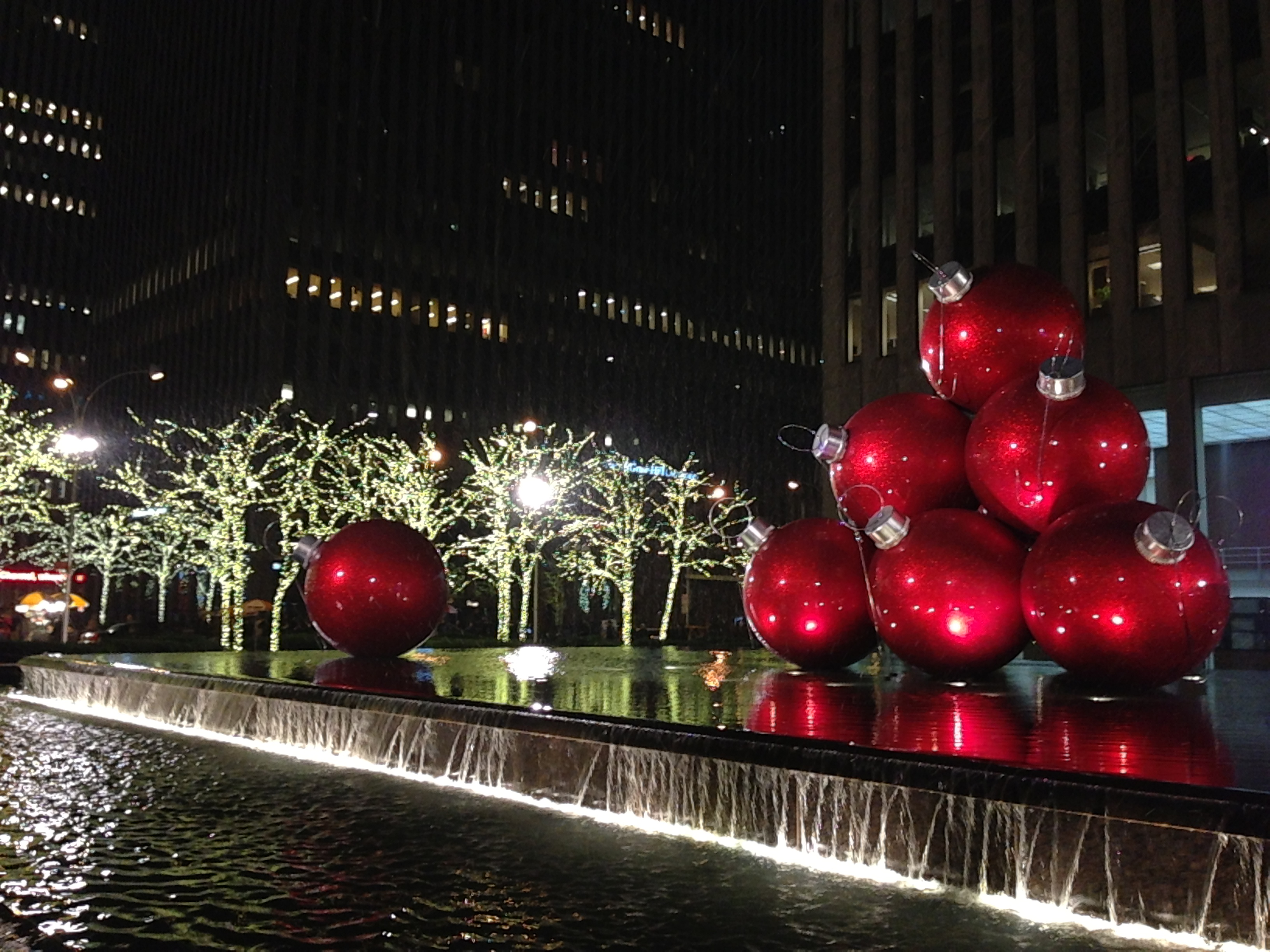 Big Balls! Christmastime in Manhattan