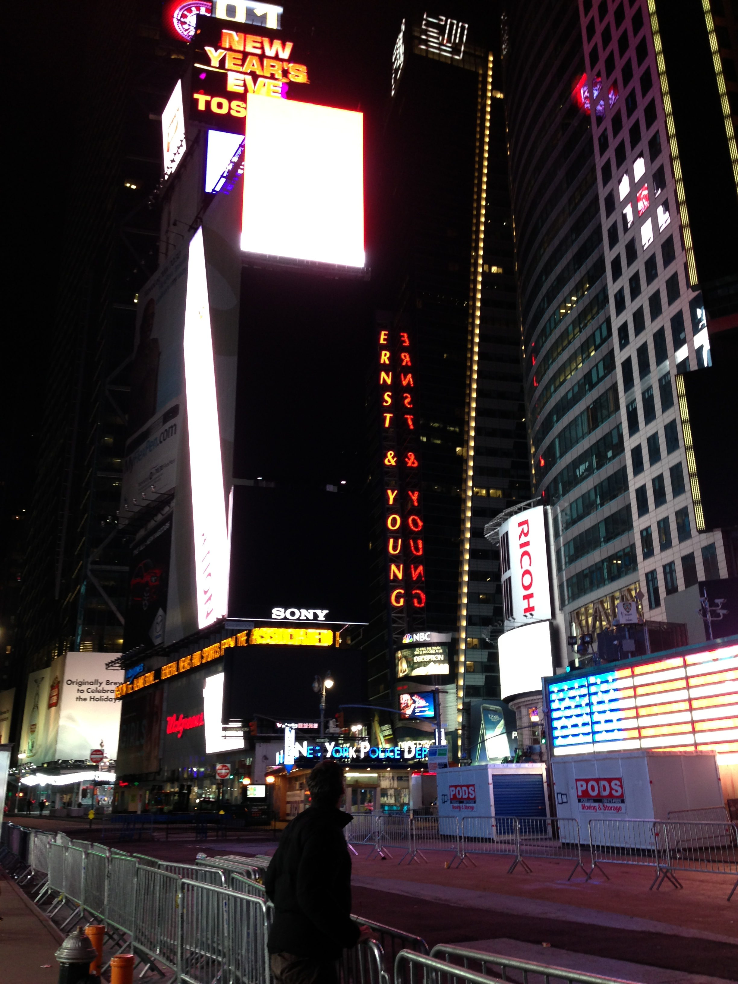 Times Square, Dec. 30, Roughly 4AM