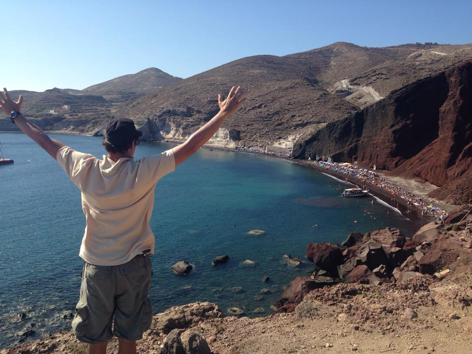 Red Beach, Santorini Salute!