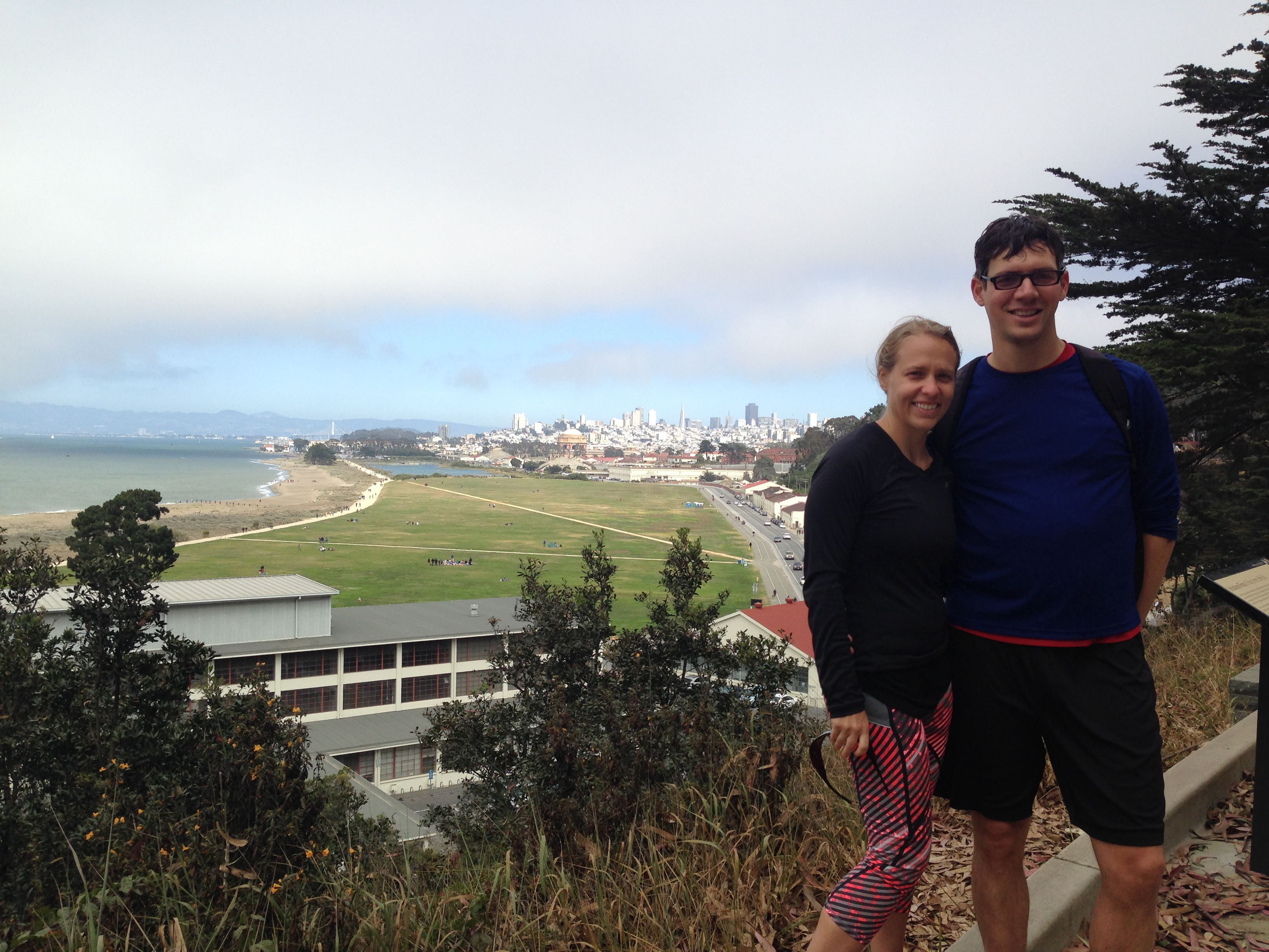 Your SF trail/workout warriors in the Presidio.