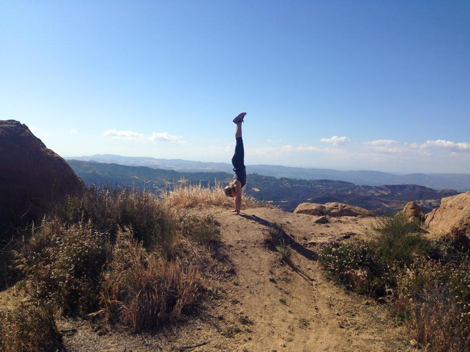 Topanga Canyon - Eagle Rock hike with Handstand Steph! This is at Eagle Rock hike right off the Pacific Coast Highway just south of Malibu. More about Handstand Steph - https://stephaniebenson.wordpress.com/