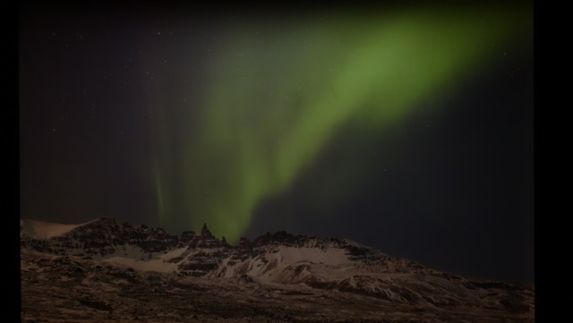 Stunning yet fake Aurora Borealis (Northern LIghts) pic taken with some help from the Aurora Reykjavik Center.