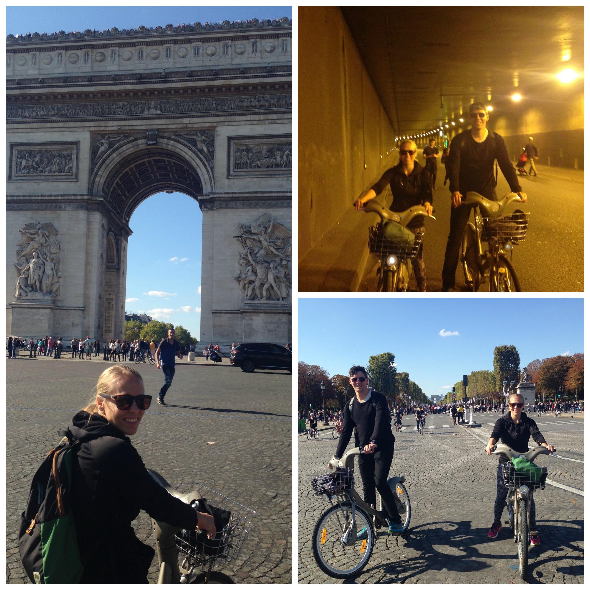Paris by bike, sans (sort of) cars