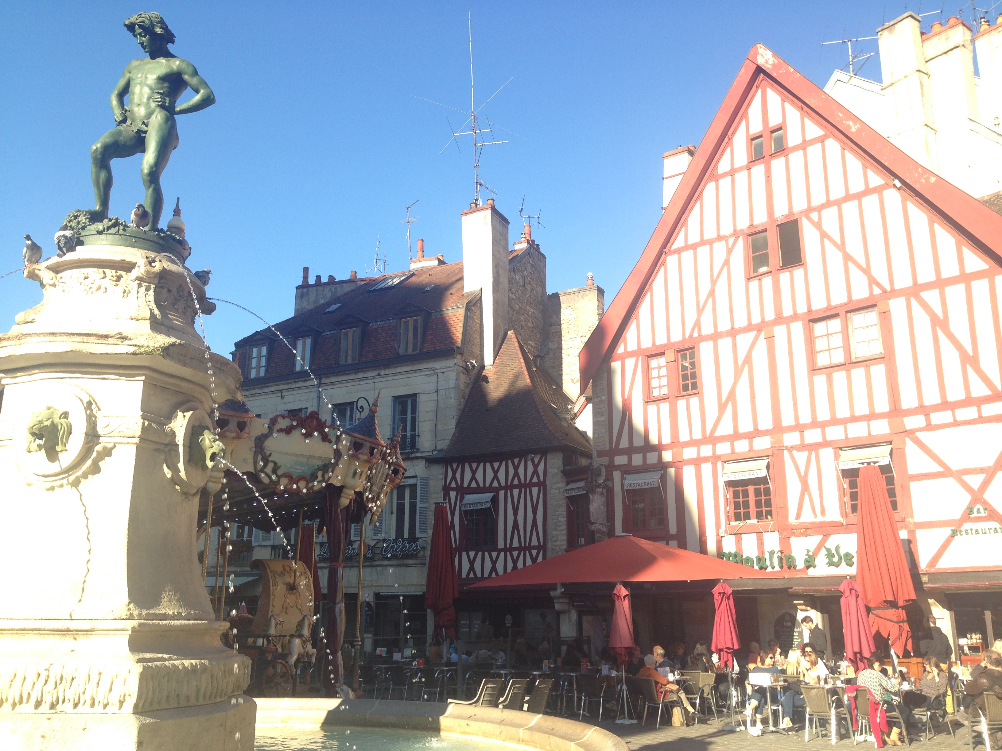 Place François Rude in the historical center of Dijon, France.