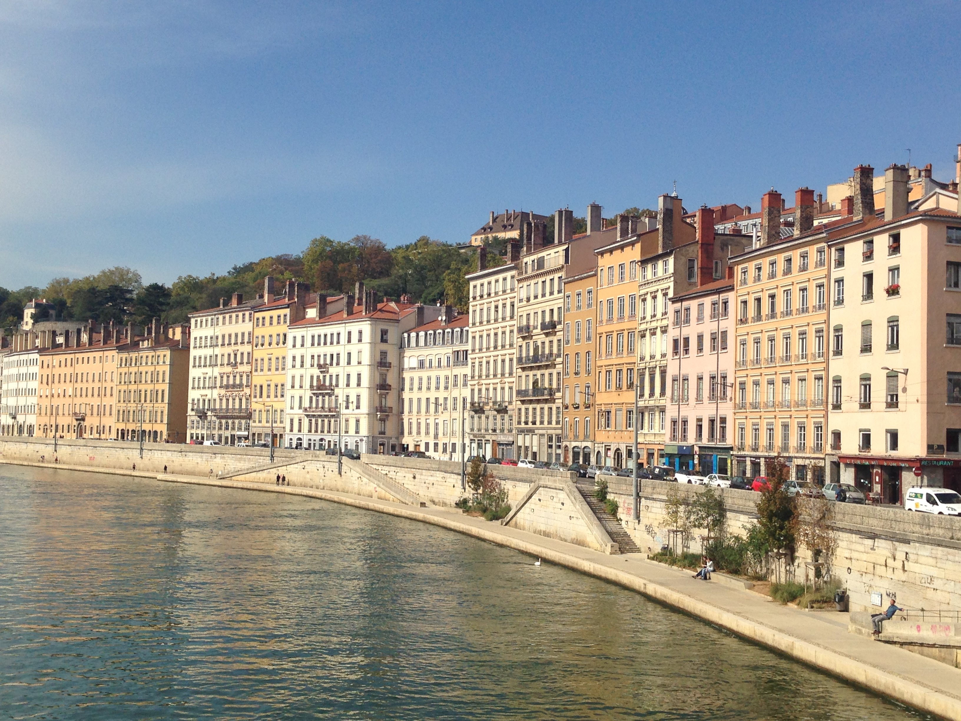 Lyon, along the Saone River