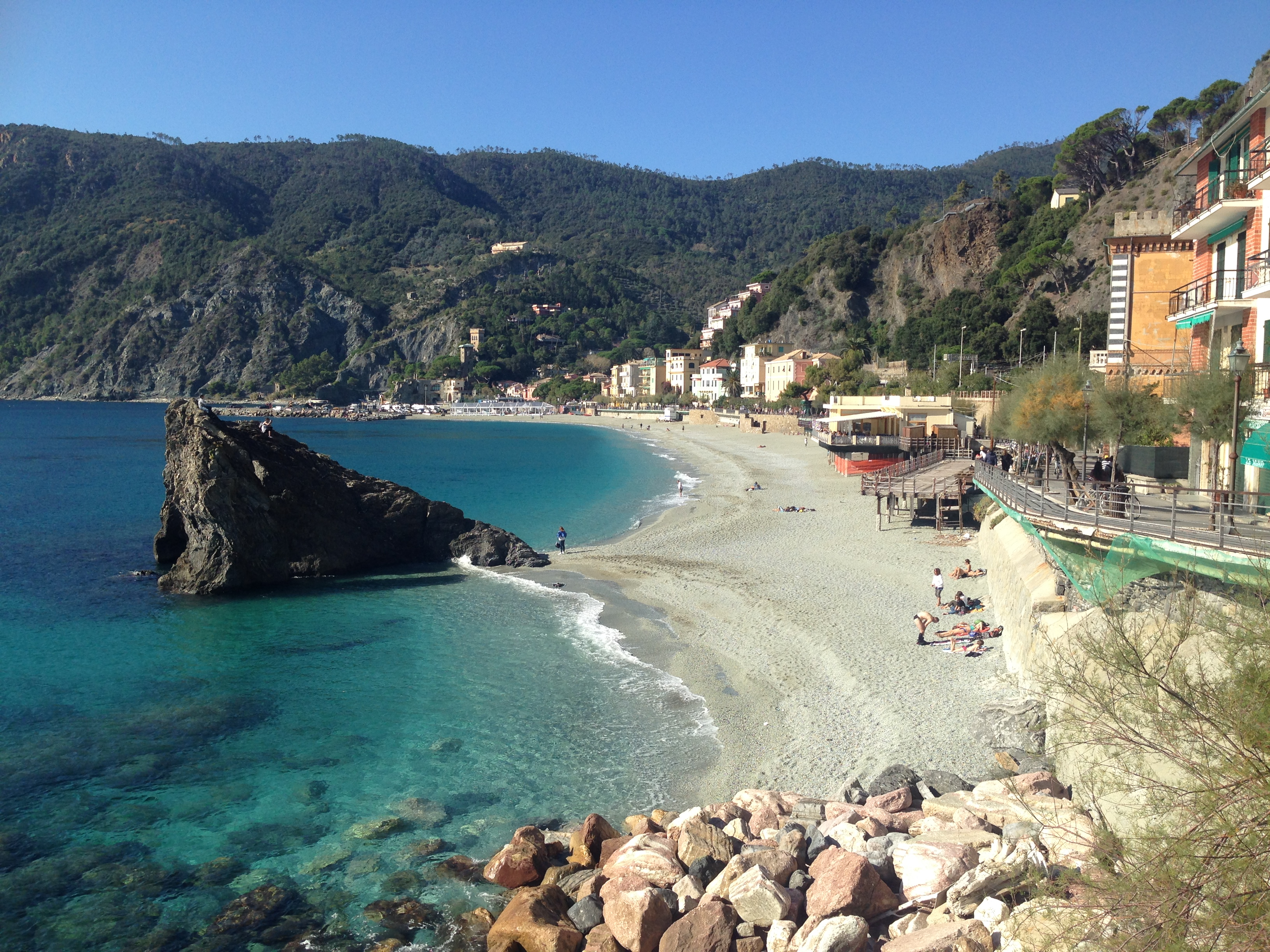 Beach in Monterosso.
