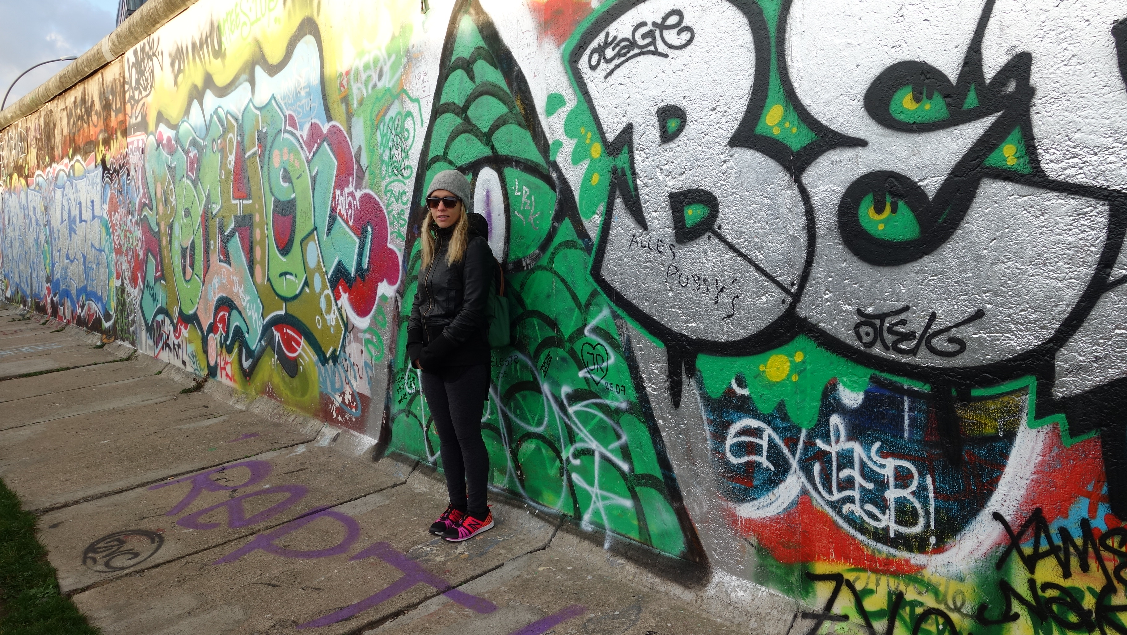 Posing at the Berlin Wall