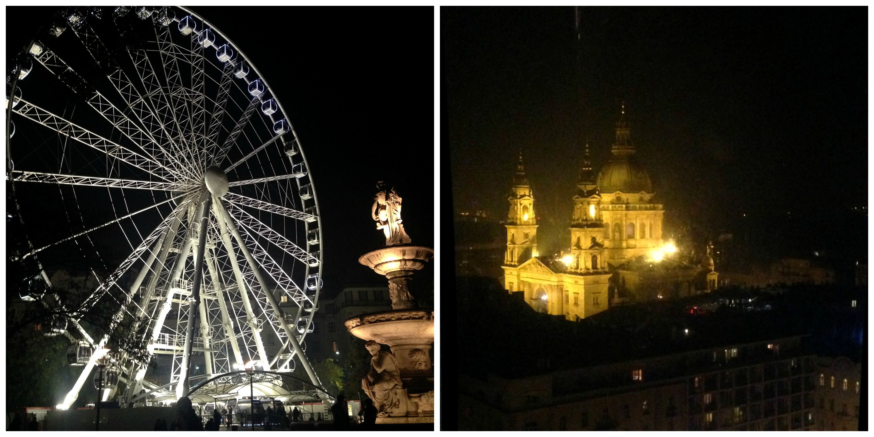Sziget Eye and a view of St. Stephen's Basilica from the top