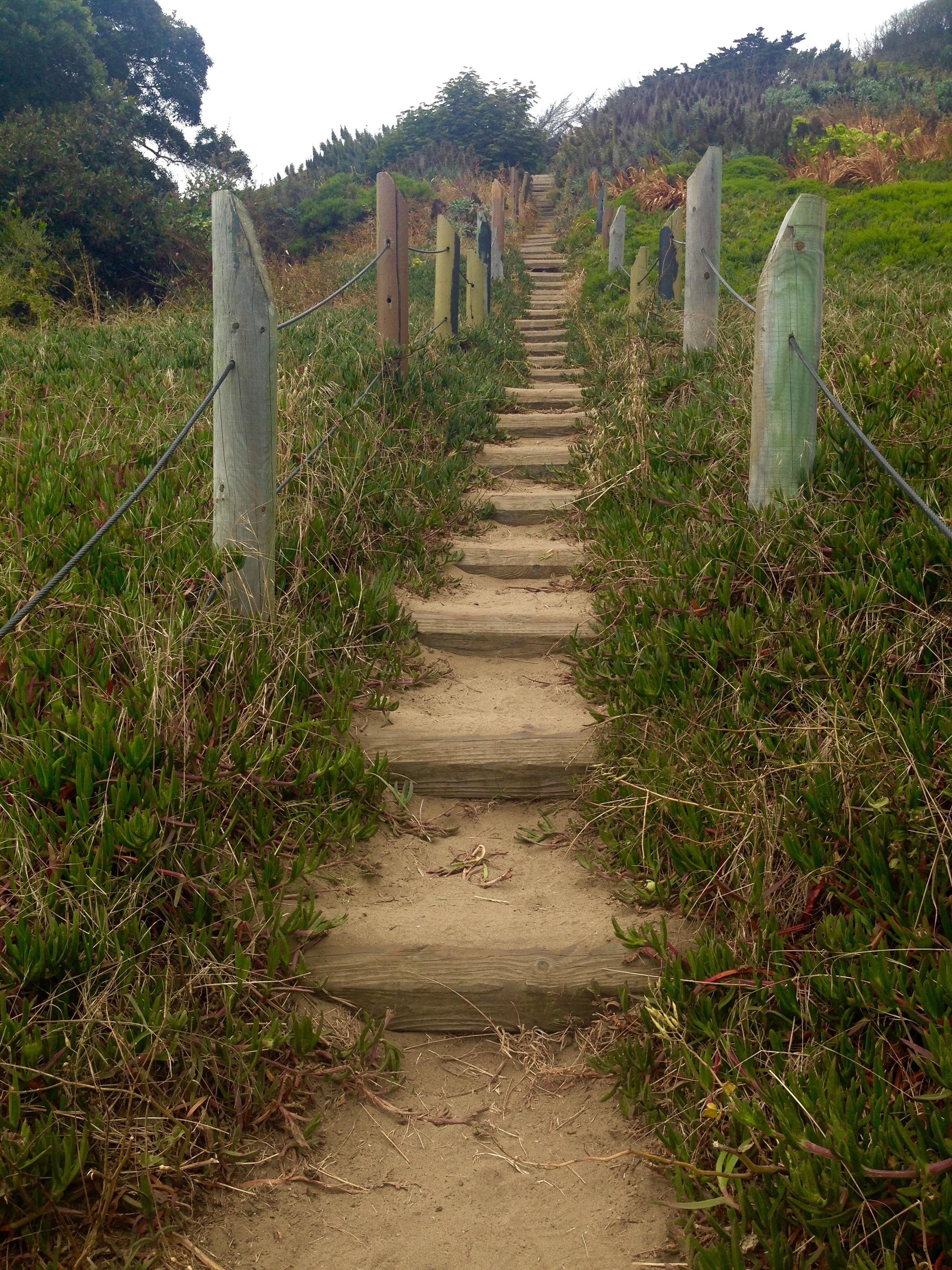 Walk along the Great Highway and take a right at Balboa Street to climb these sandy steps.