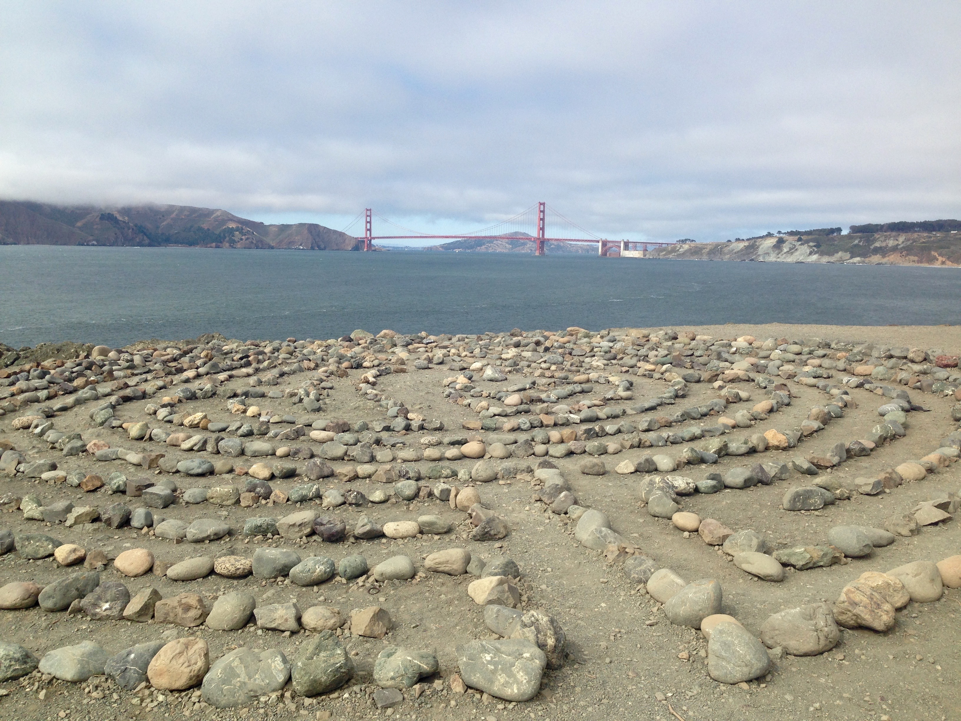 Walking the stone-guided paths of this labyrinth—with the waves crashing below—is the best type of meditation.