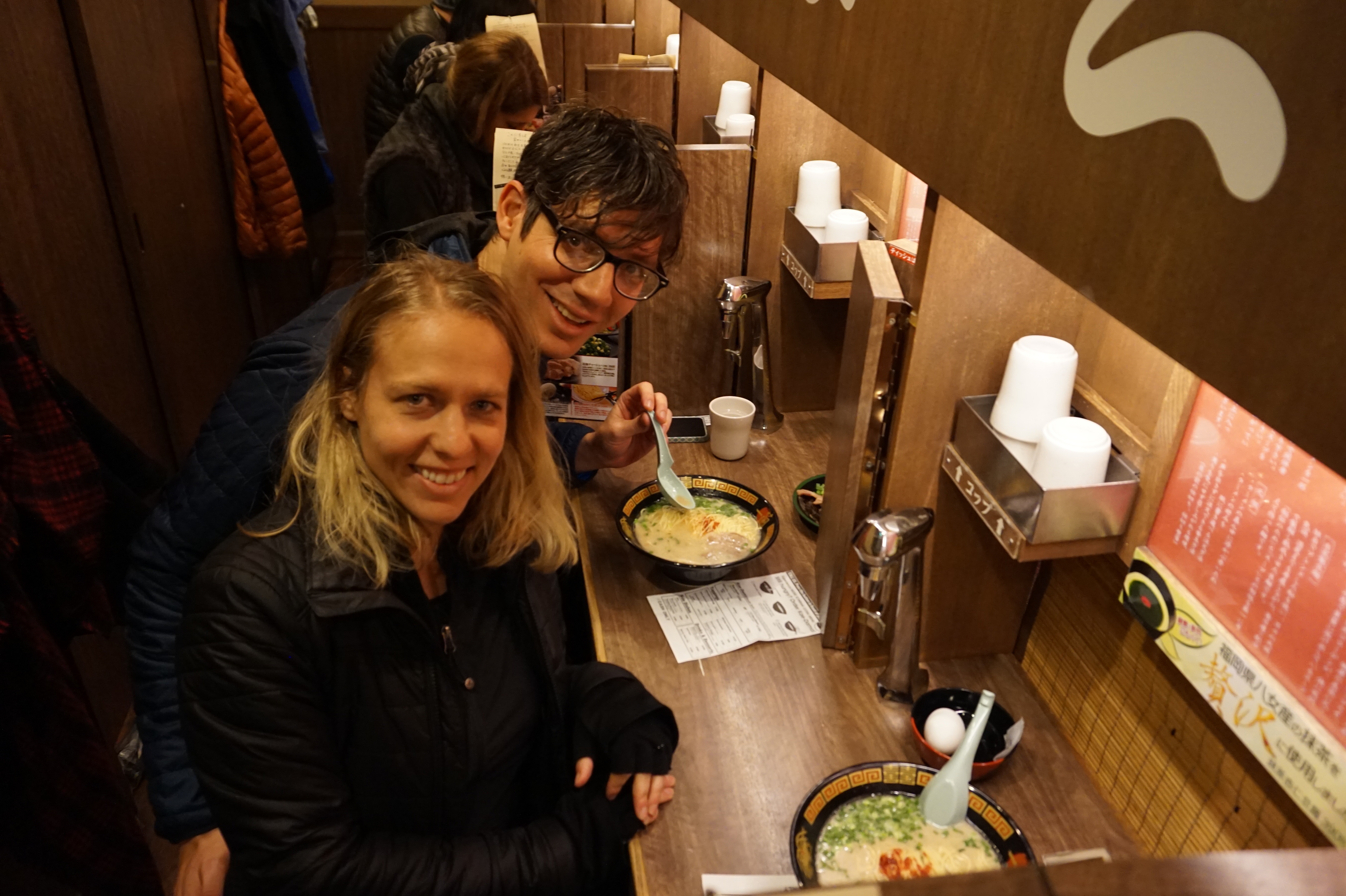 Enjoying Ramen at Ichiran